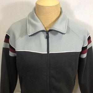 Vintage White Stag Full Zip Track Jacket Medium